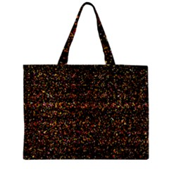 Pixel Pattern Colorful And Glowing Pixelated Medium Zipper Tote Bag by Simbadda