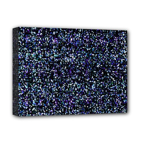 Pixel Colorful And Glowing Pixelated Pattern Deluxe Canvas 16  X 12