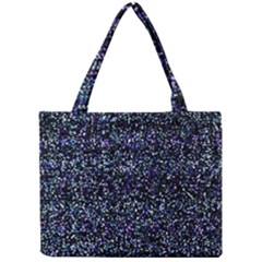 Pixel Colorful And Glowing Pixelated Pattern Mini Tote Bag by Simbadda