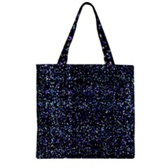 Pixel Colorful And Glowing Pixelated Pattern Zipper Grocery Tote Bag by Simbadda