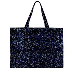 Pixel Colorful And Glowing Pixelated Pattern Zipper Mini Tote Bag