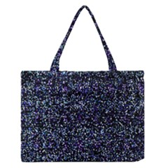 Pixel Colorful And Glowing Pixelated Pattern Medium Zipper Tote Bag by Simbadda