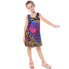 3d Fractal Mandelbulb Kids  Sleeveless Dress by Simbadda