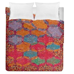 Abstract Art Pattern Duvet Cover Double Side (queen Size) by Simbadda