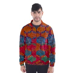 Abstract Art Pattern Wind Breaker (men) by Simbadda