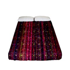 Colorful And Glowing Pixelated Pixel Pattern Fitted Sheet (full/ Double Size) by Simbadda
