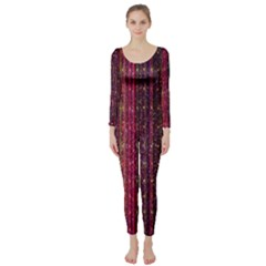 Colorful And Glowing Pixelated Pixel Pattern Long Sleeve Catsuit by Simbadda