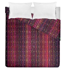 Colorful And Glowing Pixelated Pixel Pattern Duvet Cover Double Side (queen Size)