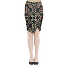 Abstract Elegant Background Pattern Midi Wrap Pencil Skirt