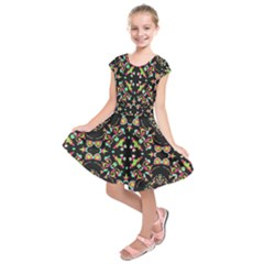 Abstract Elegant Background Pattern Kids  Short Sleeve Dress by Simbadda