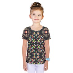 Abstract Elegant Background Pattern Kids  One Piece Tee