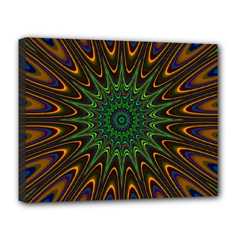 Vibrant Colorful Abstract Pattern Seamless Canvas 14  X 11  by Simbadda