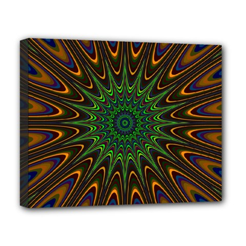 Vibrant Colorful Abstract Pattern Seamless Deluxe Canvas 20  X 16