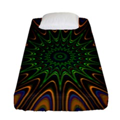 Vibrant Colorful Abstract Pattern Seamless Fitted Sheet (single Size) by Simbadda