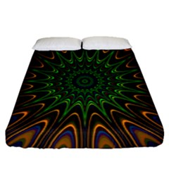 Vibrant Colorful Abstract Pattern Seamless Fitted Sheet (queen Size) by Simbadda