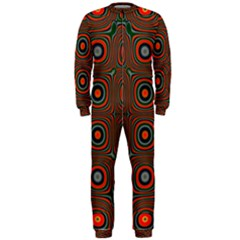 Vibrant Pattern Seamless Colorful Onepiece Jumpsuit (men)  by Simbadda