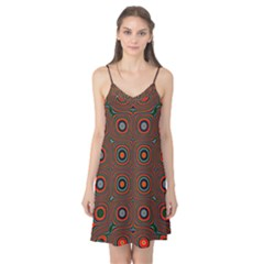 Vibrant Pattern Seamless Colorful Camis Nightgown