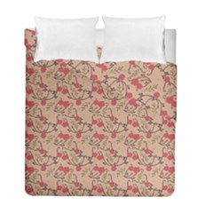Vintage Flower Pattern  Duvet Cover Double Side (full/ Double Size) by TastefulDesigns