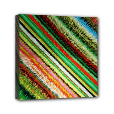 Colorful Stripe Extrude Background Mini Canvas 6  X 6  by Simbadda