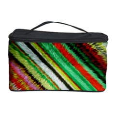 Colorful Stripe Extrude Background Cosmetic Storage Case by Simbadda