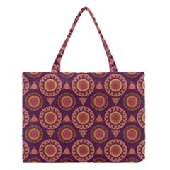 Abstract Seamless Mandala Background Pattern Medium Tote Bag by Simbadda