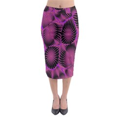 Self Similarity And Fractals Midi Pencil Skirt by Simbadda