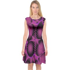 Self Similarity And Fractals Capsleeve Midi Dress