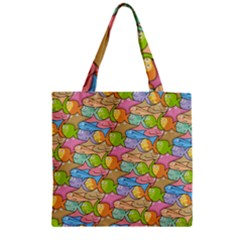 Fishes Cartoon Zipper Grocery Tote Bag