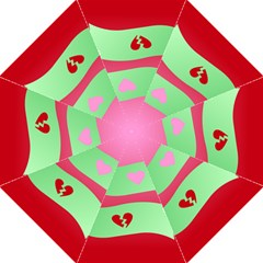 Money Green Pink Red Broken Heart Dollar Sign Hook Handle Umbrellas (large) by Alisyart