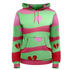 Money Green Pink Red Broken Heart Dollar Sign Women s Pullover Hoodie
