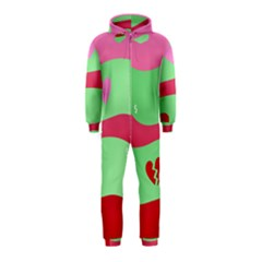 Money Green Pink Red Broken Heart Dollar Sign Hooded Jumpsuit (kids)