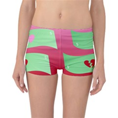 Money Green Pink Red Broken Heart Dollar Sign Reversible Bikini Bottoms by Alisyart