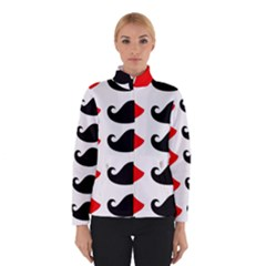 Mustache Black Red Lips Winterwear by Alisyart