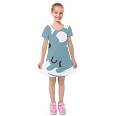 Mouse Kids  Short Sleeve Velvet Dress by Alisyart