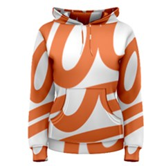 Number 100 Orange Women s Pullover Hoodie