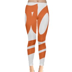 Number 100 Orange Classic Winter Leggings