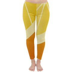 Orange Lime Yellow Fruit Fress Classic Winter Leggings