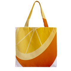 Orange Lime Yellow Fruit Fress Zipper Grocery Tote Bag by Alisyart
