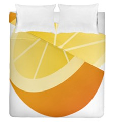 Orange Lime Yellow Fruit Fress Duvet Cover Double Side (queen Size) by Alisyart