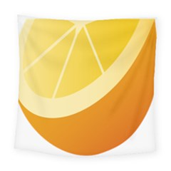 Orange Lime Yellow Fruit Fress Square Tapestry (large)