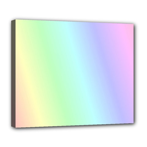 Multi Color Pastel Background Deluxe Canvas 24  X 20   by Simbadda