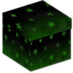 Nautical Star Green Space Light Storage Stool 12