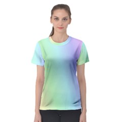 Multi Color Pastel Background Women s Sport Mesh Tee by Simbadda