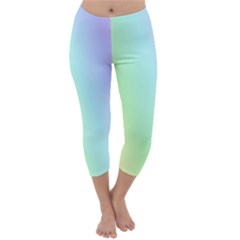 Multi Color Pastel Background Capri Winter Leggings