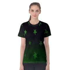 Nautical Star Green Space Light Women s Cotton Tee by Alisyart