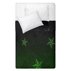 Nautical Star Green Space Light Duvet Cover Double Side (single Size) by Alisyart