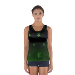 Nautical Star Green Space Light Women s Sport Tank Top  by Alisyart