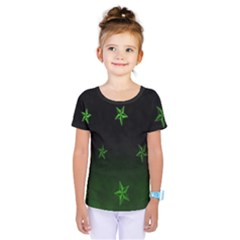 Nautical Star Green Space Light Kids  One Piece Tee