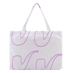 Pipe Template Cigarette Holder Pink Medium Tote Bag by Alisyart