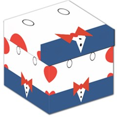 Peppermint Butler Wallpaper Face Storage Stool 12